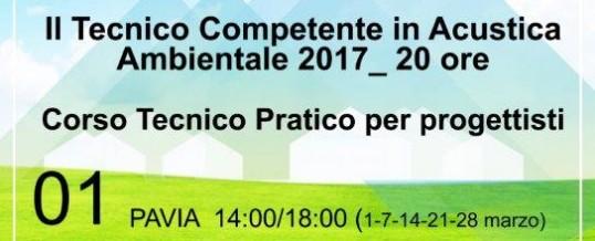Corso Tecnico Competente in Acustica Ambientale