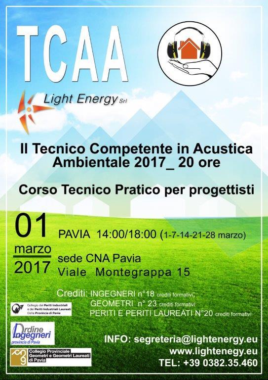 Locandina Corso TCAA new