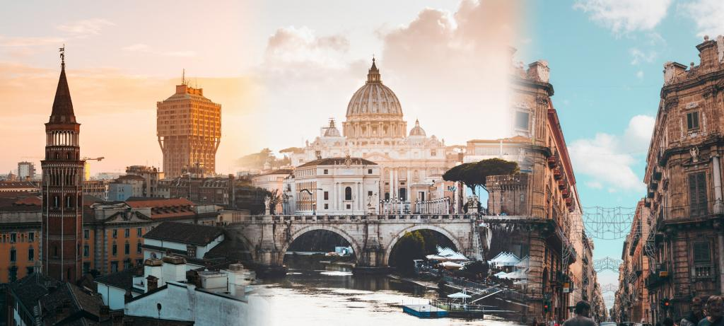 nord centro sud italia