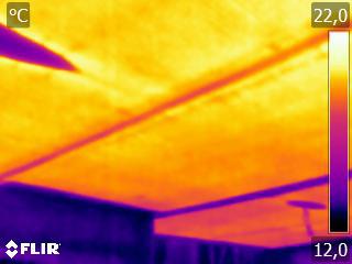 Termografia impianto radiante RRI